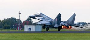 Mig-29 taking off by BDStudio