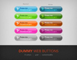 Dummy Web Buttons Part 1 by artbees