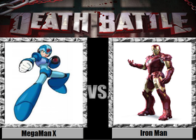 Death_Battle Idea MegaMan X vs Iron Man by kingdomofsantiago1