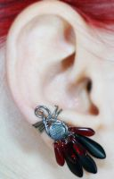 Red and Black Daggers Ear Cuff by sylva