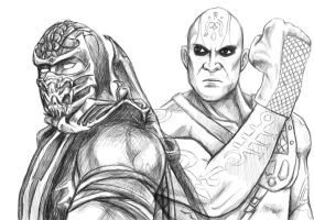 Scorpion and Quan Chi by Grace-Zed