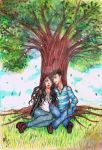 Comision_Love and Tree by anxelin