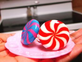 Peppermint candy rings by SprinkleChick