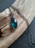 Mermaid Tears Teal Quartz Pendant by QuintessentialArts