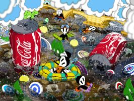 PLUGS and COKE ilustracion-barcelona by minimalminds