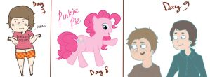 Drawing Challenge Days 7-9 by clau2586