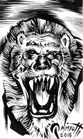 Lion sketch card by PeterPalmiotti