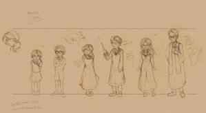HP fic-  Hogwart's years sketches by Noe-Izumi