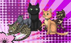 Our Family of Cats by Shaami