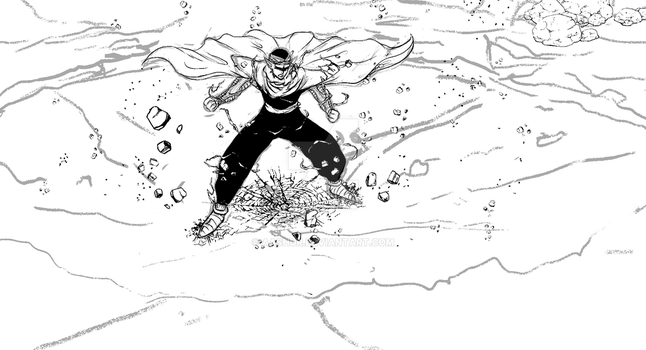Piccolo powering up sketch by Aashur