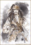 Captain Jack Sparrow. Sketch. by Bormoglot