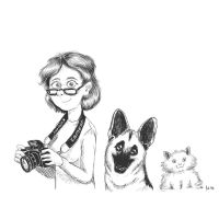 Lady with Camera and Animals by DocWario