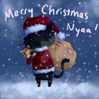 Merry Christmas from Neko-chan by Noctuart