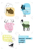DISTORTED ANIMALS by gustaf-pinsel