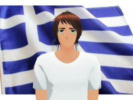 MMD Hetalia model:Greece by Ash080897