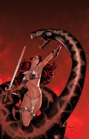 Red Sonja :Doom of the Gods 4 by PaulRenaud