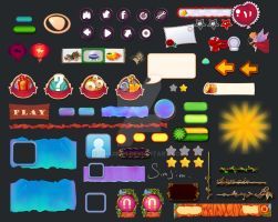 Game bright UI list 1 by Simjim91