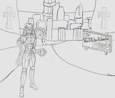 Pro-active recruitment WIP lineart by BeigePaladin