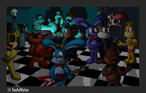 Kaiser and Karl with Five Nights at Freddy's by TeufelKatze