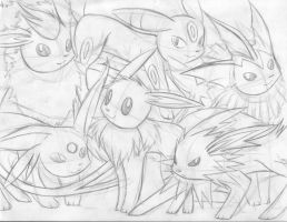 Eeveelutions by ZiBaricon