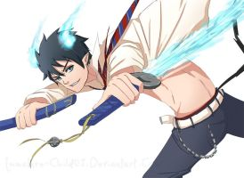 Ao no Exorcist- Okumura Rin by Immature-Child02