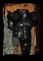 orc female leather armor by Lagueuse