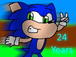 Sonic's 24th Anniversary by Toad900