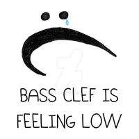 Bass Clef is Feeling Low by FluteJazz