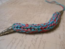Knit bracelet by HecticHarmony