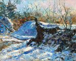 Impasto winter scene in oil by Kay-Sparrow