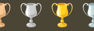 GJ Trophies with Handles by knitetgantt