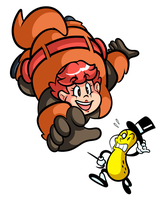 Commission - BBW Squirrel Girl and Mr. Peanut by JamesmanTheRegenold