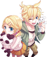 Kagamine Twins Render by NanaFey