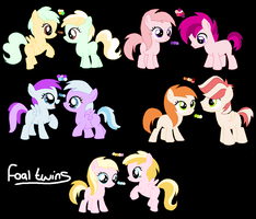 Foal Twin Adoptables - 2 LEFT! by Never-Adoptables