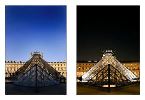 musee du Louvre :DayNight: by tyt2000