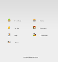 Web Site Nav Icons by Ashung