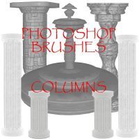 Photoshop CS - Column Brushes by firebug-stock