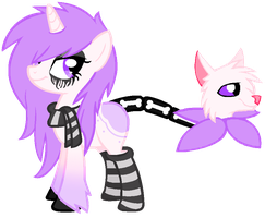 Pastel goth cat tail pony auction (CLOSED) by annethyst