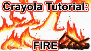 Tutorial: How to Draw Fire w Crayola Markers [VID] by sambeawesome