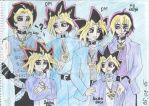 Cannon x reboot YGO! comparison - Yami and Yugi by SkyCircle777