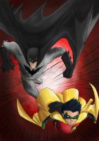Batman and Robin colour by patoftherick
