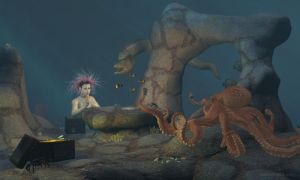 Gambling Octopus by David-the-Cenobite