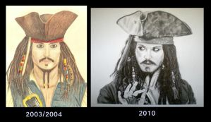 Jack Sparrow 2003 - 2010 by EldalinSkywalker