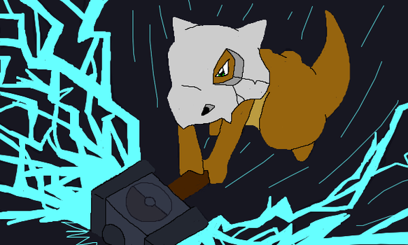 Thor the mightiest Cubone by YukiBlueWho