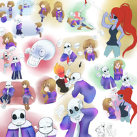 Sans (and others) sketch dump 2 by Br00kie-Draws