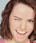 Smiling with Daisy Ridley by Andorada