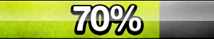 70% Progress Button by ButtonsMaker