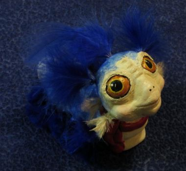 Labyrinth Worm OOAK Sculpture by MissNioniel