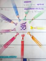 page of my diary: love pencils by Cardcaptor-Sophia
