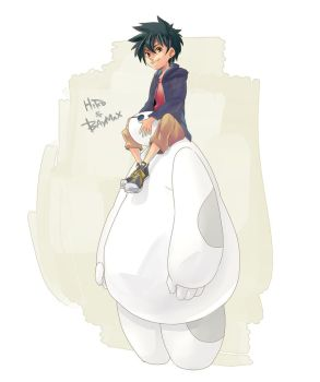 Hiro and Baymax by Umintsu